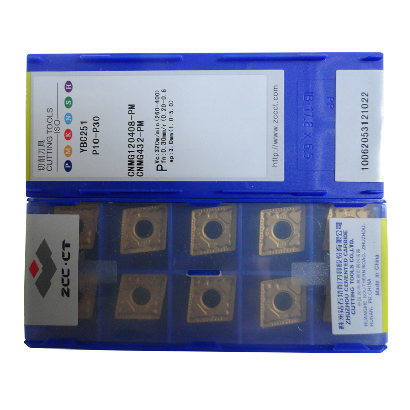 Free shipping 50pcs ZCC CT YBC251 CNMG 120408 PM CNMG120408 PM CNMG12 ZCC turning inserts cutter