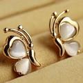 Nuevo 2015 mariposa pendientes de ópalo al por mayor de joyería fina/brincos femininos/pendientes/aretes/bijoux femme/boucles d'oreilles