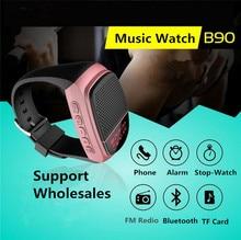 Сабвуфер Стерео Универсальный Мини-динамик bluetooth часы с Анти-потерянный, Selfie, USB и Tf Слот Для Карты