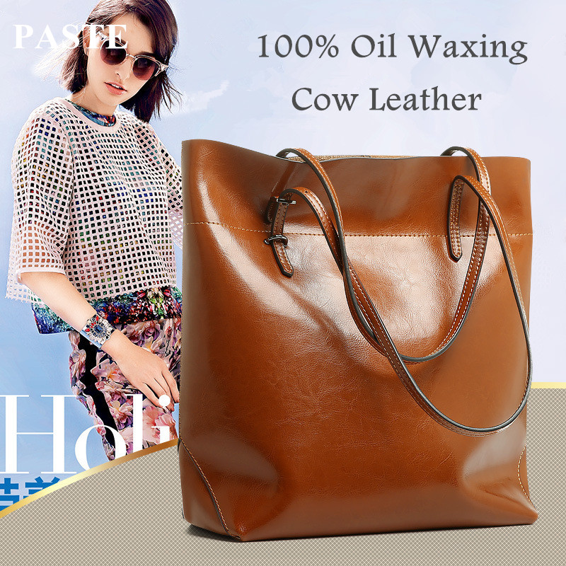 Generous Fashion Bag Big Bag Women Handbags Genuine Leather Oil Wax Cowhide Handbags Lady Real Leather shoulder Messenger Bags fashion leather handbags luxury head layer cowhide leather handbags women shoulder messenger bags bucket bag lady new style