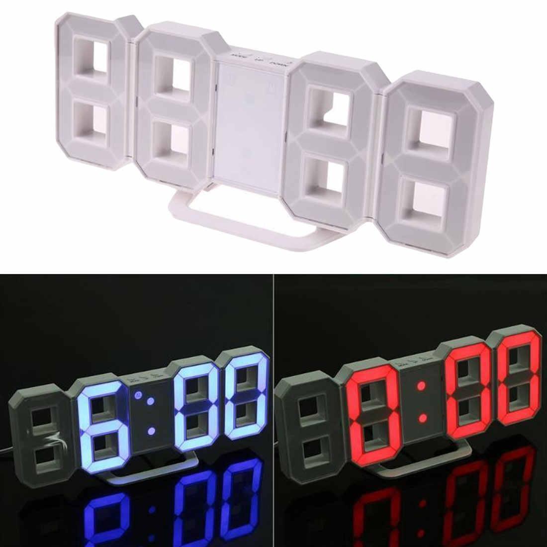Hiện đại Đồng Hồ Đồng Hồ Đồng Hồ Kỹ Thuật Số ĐÈN LED Để Bàn Báo Lại đồng hồ Để Bàn Đồng Hồ 24 hoặc 12 Giờ Hiển Thị cơ chế Báo Động