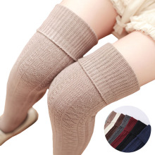 2017 Japanese Thigh High Warm Hosiery Women Stocking Floral Lolita Cute Long Knitted Knee Sock Girls Stay Up Stockings Christmas