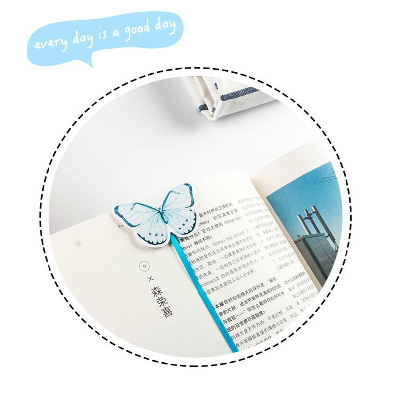 1pc New Erfly Paper Magnet Long Tail Bookmarks Premium Ribbon Bookmark Child Cute Gifts Office Stationery Color Random In From
