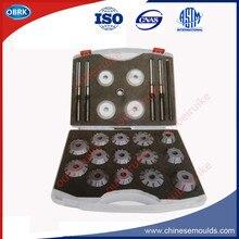 Kit de actualización de cortadores de asiento de válvula de carburo Dia.52-62mm para herramientas de reparación de válvula de motor de camión pesado