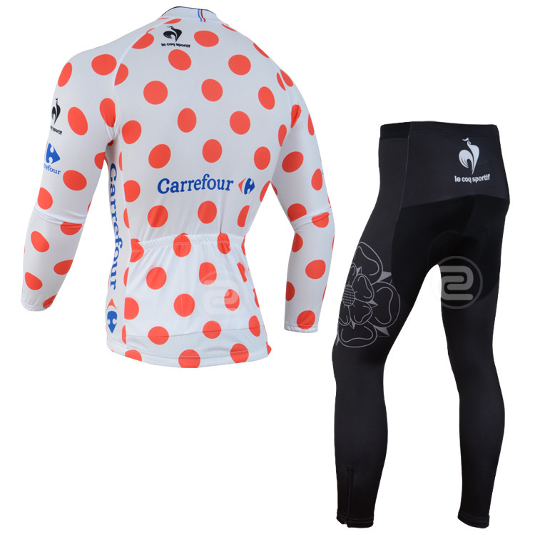 Carrefour s 2015 tour DE France cycling race bike jersey red long sleeved  team bicycle clothes 2015 high quality cycling jerseys-in Cycling Sets from  Sports ... 9e4155c2d