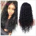100% Необработанные Бразильского Виргинские Волос Фронта Шнурка U Часть Парики для Чернокожих Женщин Афроамериканца Парики Странный Вьющиеся Человеческих Волос парики