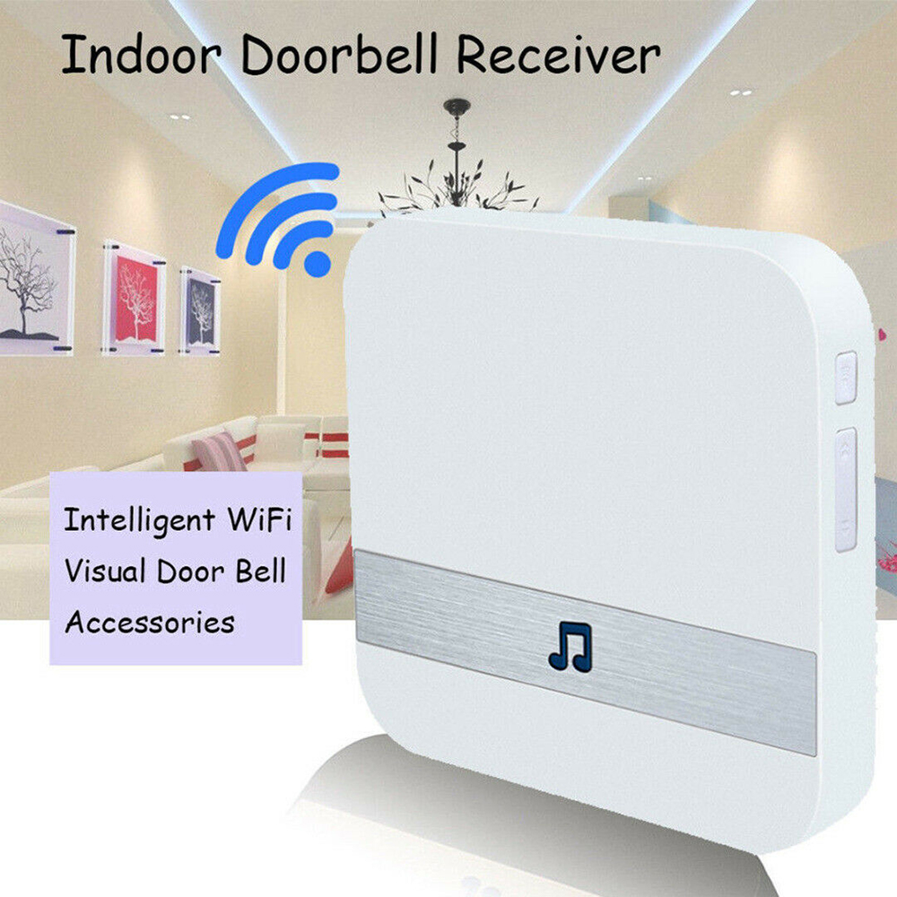 Smart Wireless WiFi Doorbell Chime Ding Dong Door Bell Receiver UK/EU/US Plug Home Security 100db 4 Levels Of Volume Controller