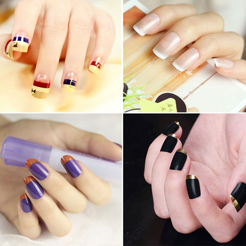 Belen 10 Packs Manicure Nail Art DIY French Manicure Guides Sticker ...
