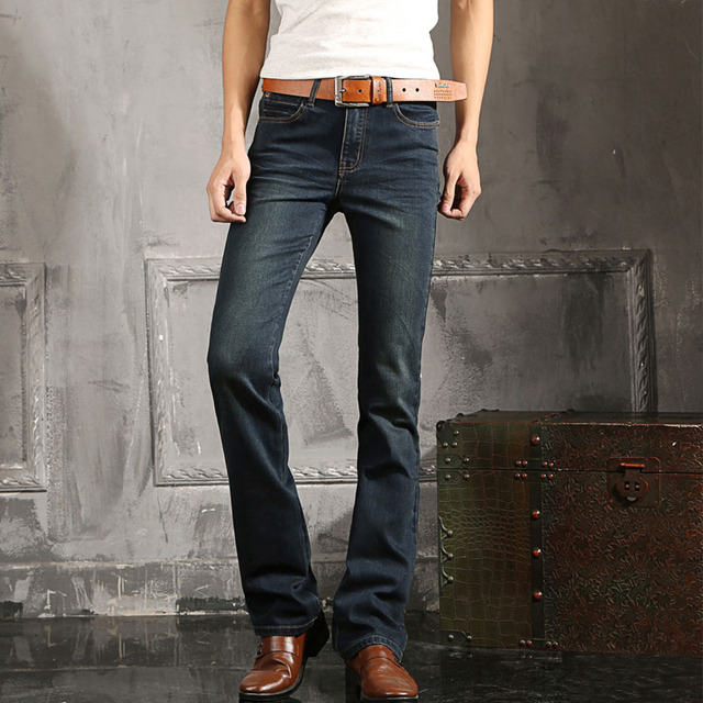 2016 mens blue jeans plus size 27 to 38 jean flare bell bottom