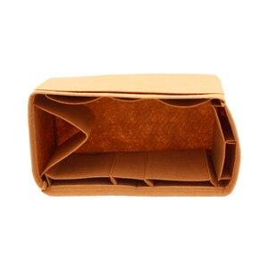 Image 5 - 迅速な 25 30 35 フェルト挿入バッグ女性挿入オーガナイザーハンドバッグとポケット化粧品バッグ主催