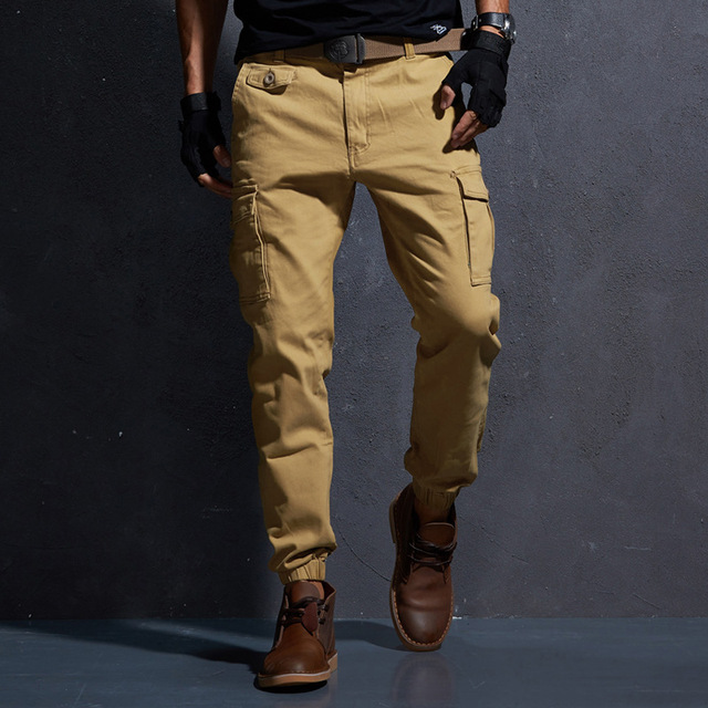 Vintage Military Mens Winter Army Solid Pants 95% Cotton Tactical Army  Trousers Winter Warm Harem 23b7260352d