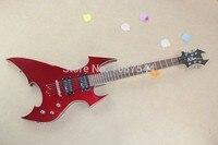 Бесплатная доставка 2015 Новый высокого качества до н. э., Рич sigmature особое чужой красный металлик Электрогитара в наличии