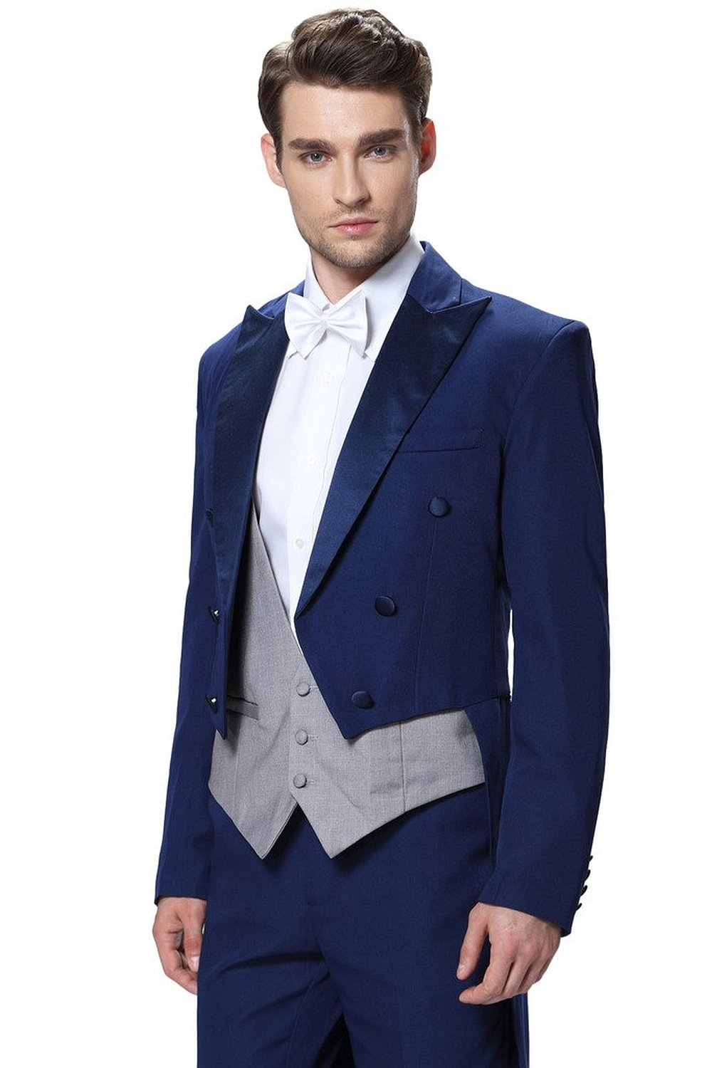 Men's Royal Blue Suits With Pants Formal Dress Mens Stage Wear ...