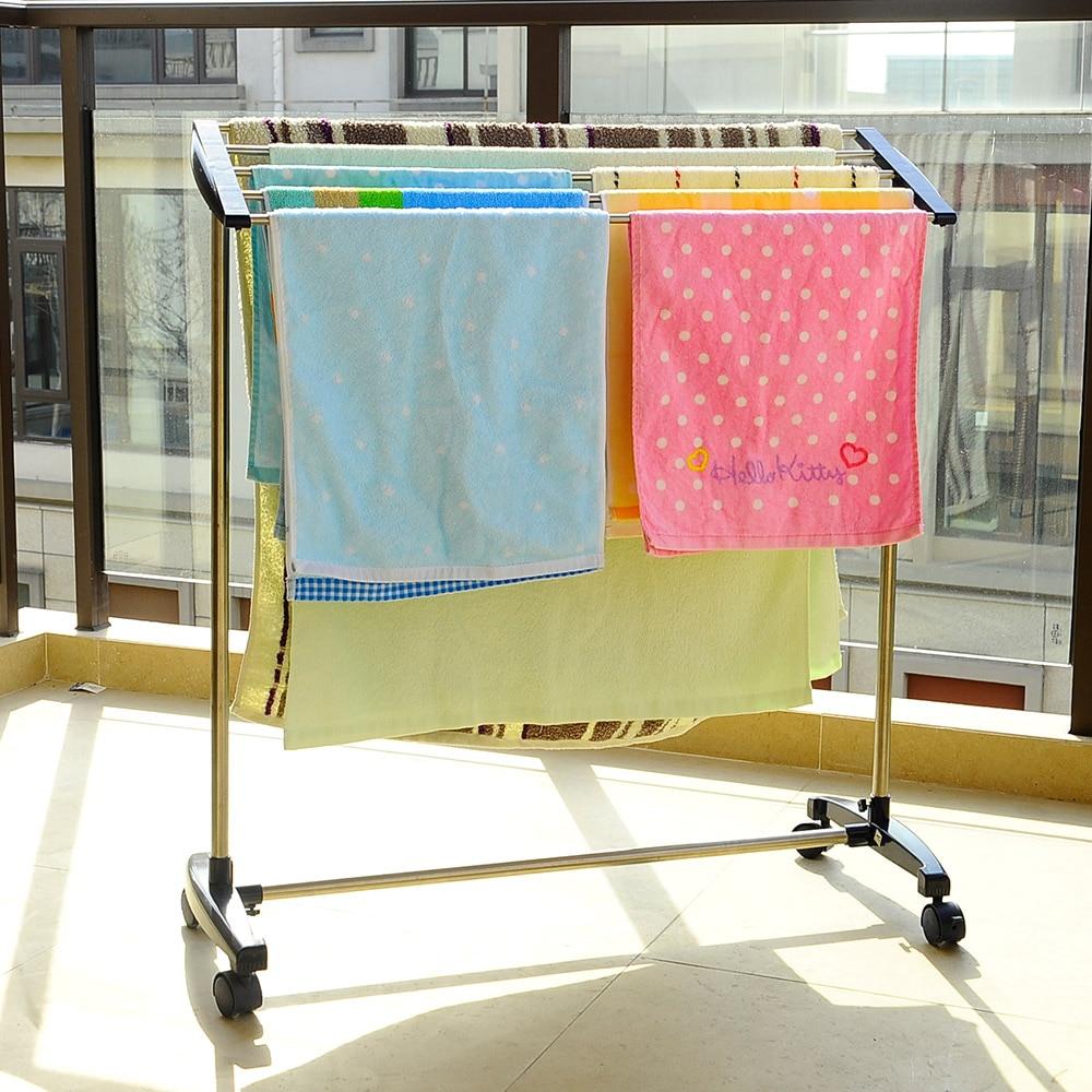 Aliexpress.com : Buy BYN Metal Free Standing Towel Rack Stand ...