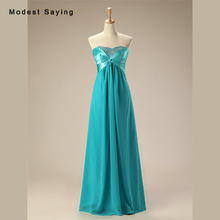 Sexy Simple Turquoise A-line Sweetheart Pleated Beaded Evening Dresses 2017  Formal Women Long Party Prom Gowns robe de soiree 6b753503dec6