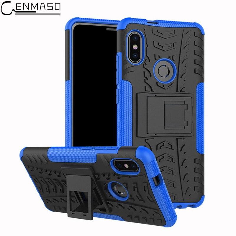 For Xiaomi Redmi Note 5 Pro Case Cover New Armor PC + TPU Stand Heavy Duty Protection for Redmi Note 5 Pro Case Capa Coque Funda