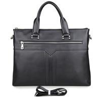 J.M.D100% Genuine Leather Fashion Laptop Bag Hand Business Bag Men's Briefcase 7330A