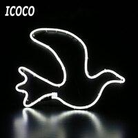 Icoco النيون ليلة ضوء الحمام شكل تصميم الحب حلية مقهى جدارية غرفة جدار ديكورات المنزل الحرف بيع 11.11