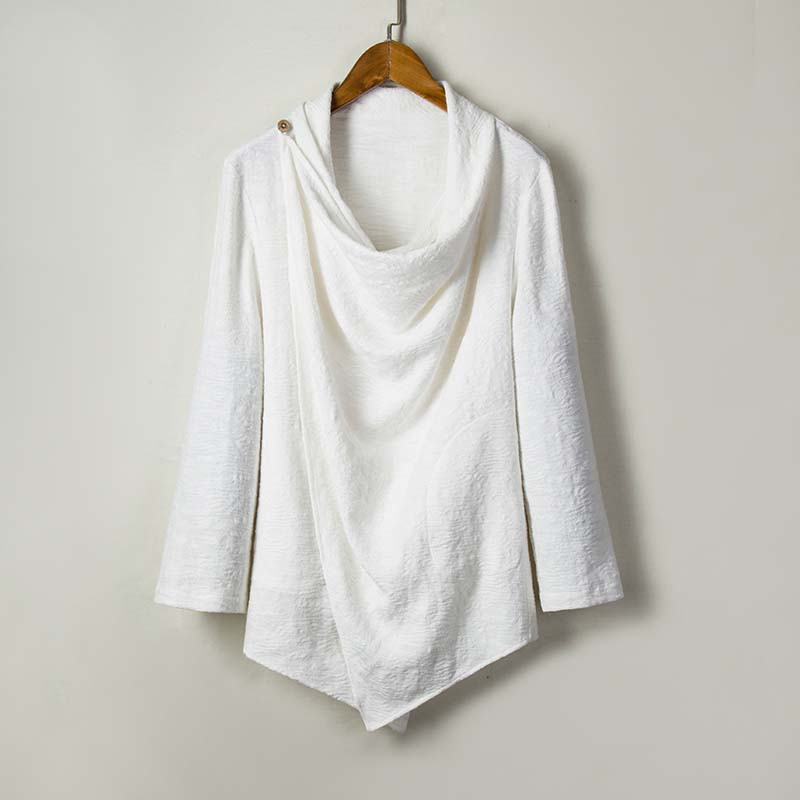 MR-DONOO MRDONOO wind robes loose cotton tops retro Chinese style Hanfu linen