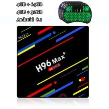 RUIJIE H96 MAX Plus Android 8.1 Tv Box RK3328 4GB RAM 64GB ROM Quad Core Smart Tv 2.4G/5G Dual Wifi 4G 32G 4K Box Tv