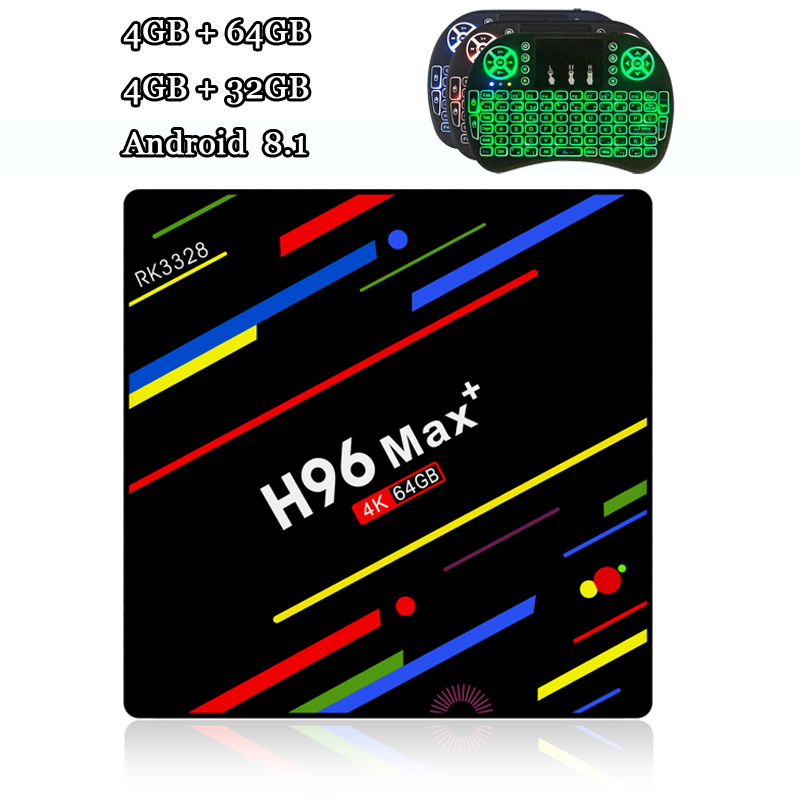 RUIJIE H96 MAX Plus Android 8.1 Tv Box RK3328 4 gb RAM 64 gb ROM Quad Core Smart Tv 2,4g /5g Dual Wifi 4g 32g 4 karat Box Tv