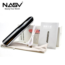 High Quality LCD Portable Mini USB Hair Straightener Brush Wireless Ceramic 2 in 1 Rechargeable Curling Irons with