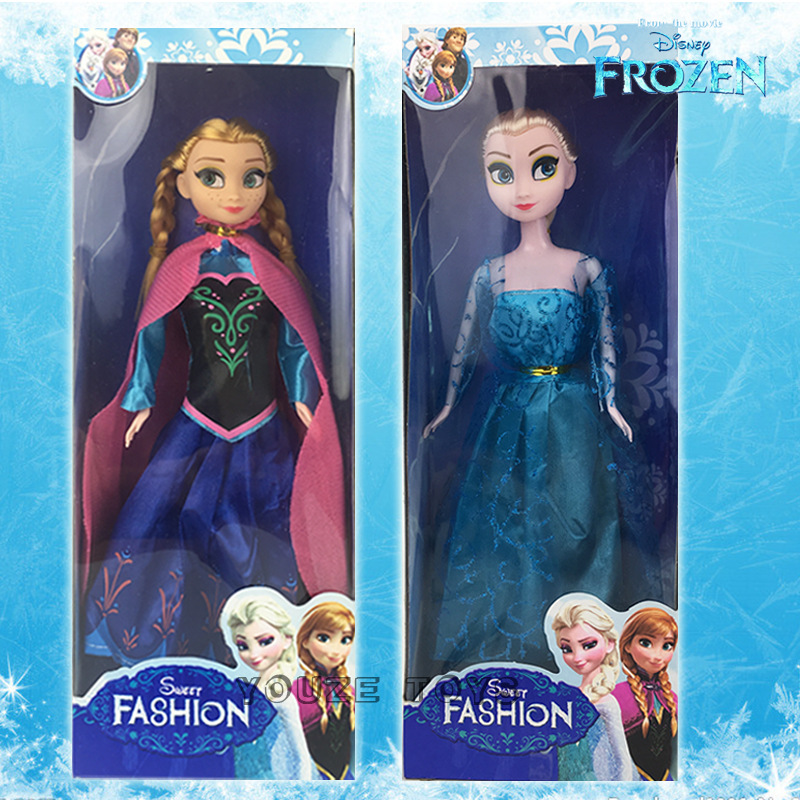 Disney Series Frozen Snow Queen Anna Elsa Princess Cartoon Doll Character Action Model Toy Child Girl Birthday Gift Toy