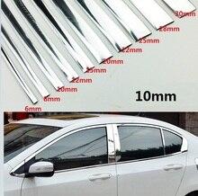 Bande de montage autocollant pour voiture, largeur 10MM garnitures chromées, décoration extérieure et intérieure, 1M /2M /3M /5M /10M/15M