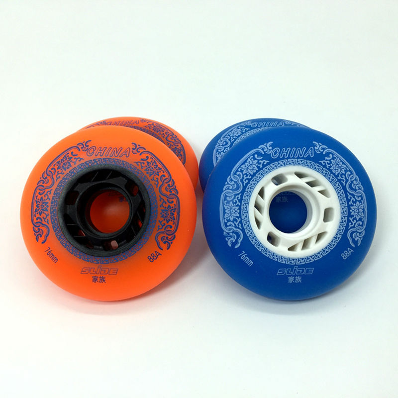 Free Shipping Roller Skates Wheels Braking Wheel 88A PU Wheel