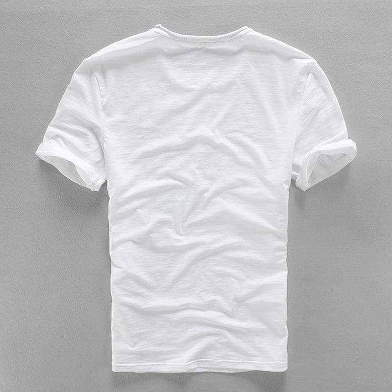 2017 Ketibaan baru kreatif Jepun linen t-shirt lelaki musim panas - Pakaian lelaki - Foto 2