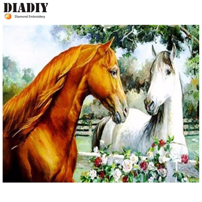 5D diamond painting diamond cross stitch crystal square Good horse diamond sets needlework Plastic Crafts home decor