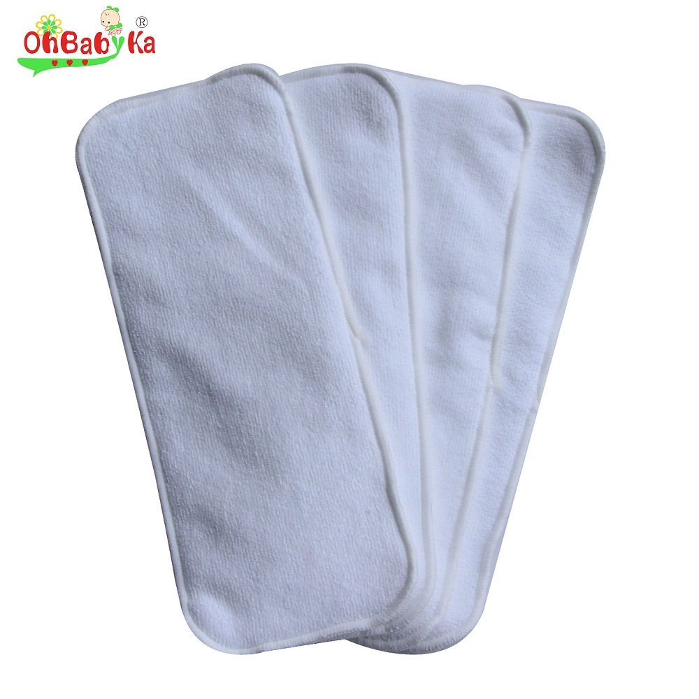 Baby Diaper Nappy Changing Pads Covers Washable Cloth Diaper Inserts 5pcs/Lot Reusable Microfiber Diapers Nappy Changing Mat