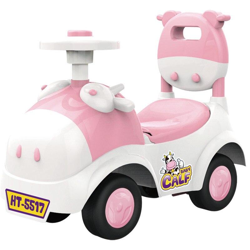 Bébé brillant bébé marcheur voiture jouet enfants monter sur la voiture 1-3 ans enfants Scooter Balance vélo Train bébé marcheur 4 roues - 2