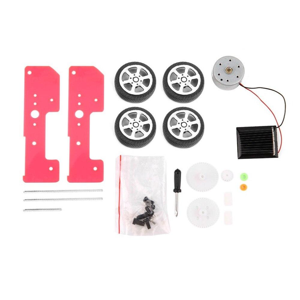 Новое поступление 1 шт. самостоятельной сборки мини-смешно солнечные игрушки DIY Car Kit образования детей гаджет хобби Новые