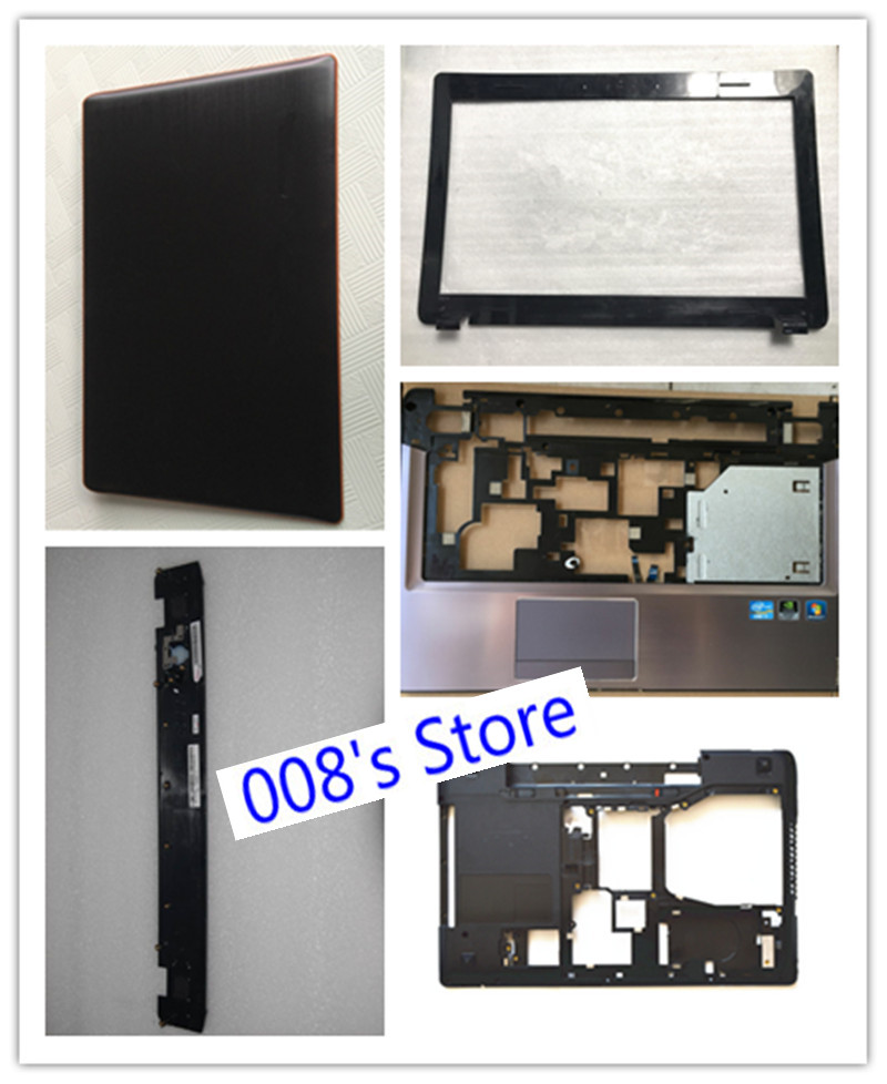 New Laptop LCD Top Back/Front Bezel/Bottom Base Case Cover For Lenovo Y570 Y570P Y570N Keyboard Switch Board Layering 31049885