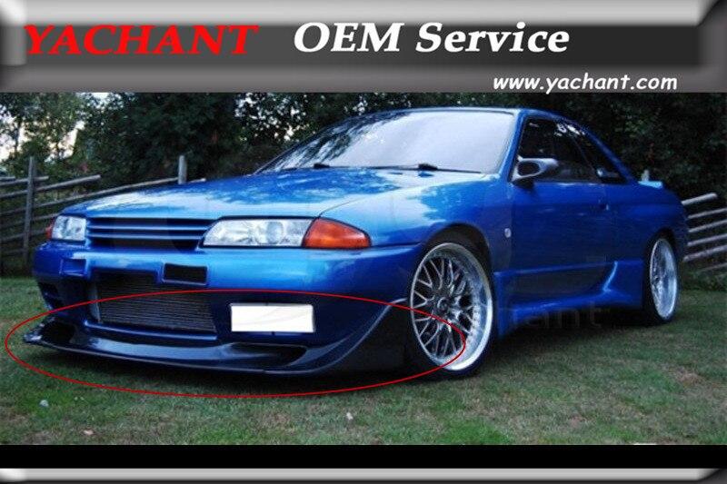 Lèvre avant en Fiber de carbone de Style automobile pour Nissan Skyline R32 GTR TBO Style 1989-1994