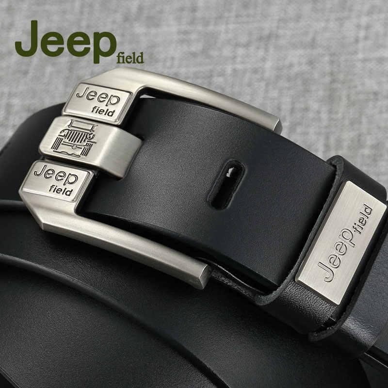 Jeep полевой 2018 мужской ремень из натуральной коровьей кожи роскошный мужской ремень ремни для мужчин новая модная Классическая винтажная Пряжка со штырем дропшиппинг