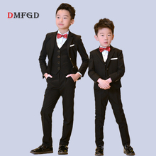 hot deal buy 2018 new boy suits set flower boys clothing sets children formal suits blazers boys clothes suit vest piano party clothes