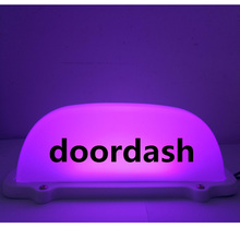 1 pcs car doordash light warterproof LED Roof Sign with 3M line and Magnet base