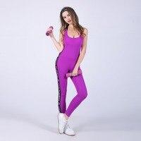 Frauen Fitness Set Einteilige Overall mode designer 2017 backless Schlank Strampler Sexy Frauen leggings Overalls und Strampler