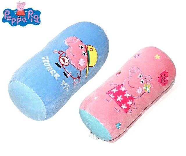 Genuine peppa pig peppa pig George travesseiro doces Pescoço proteger travesseiros dorminhoco/Sofá Travesseiro brinquedo de pelúcia para Crianças dos miúdos 45*20 cm 1 pc