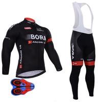 2017 New Bora Cycling Jersey Set Long Sleeve 9d Gel Padded Clothing Sets Bike MTB Clothing