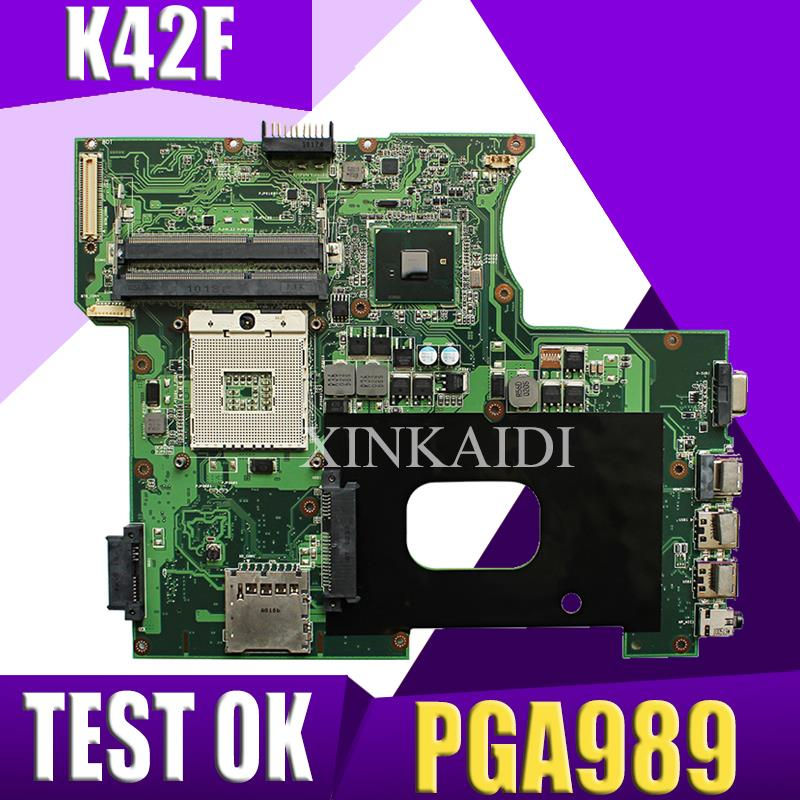 K42F Rev 2.0 GMA HD USB2.0 HM55 PGA989 DDR3 Video Memory Main Board For Asus K42F Motherboard P42F 100% Fully Tested