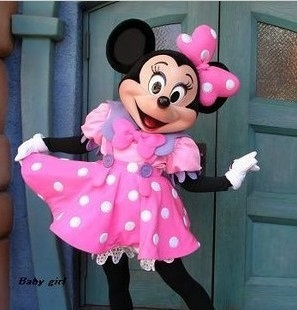 Hot Adult Party Dress Version Minnie Mascot Costume Pink Minnie Mouse Mascot Costume Mouse Mascot