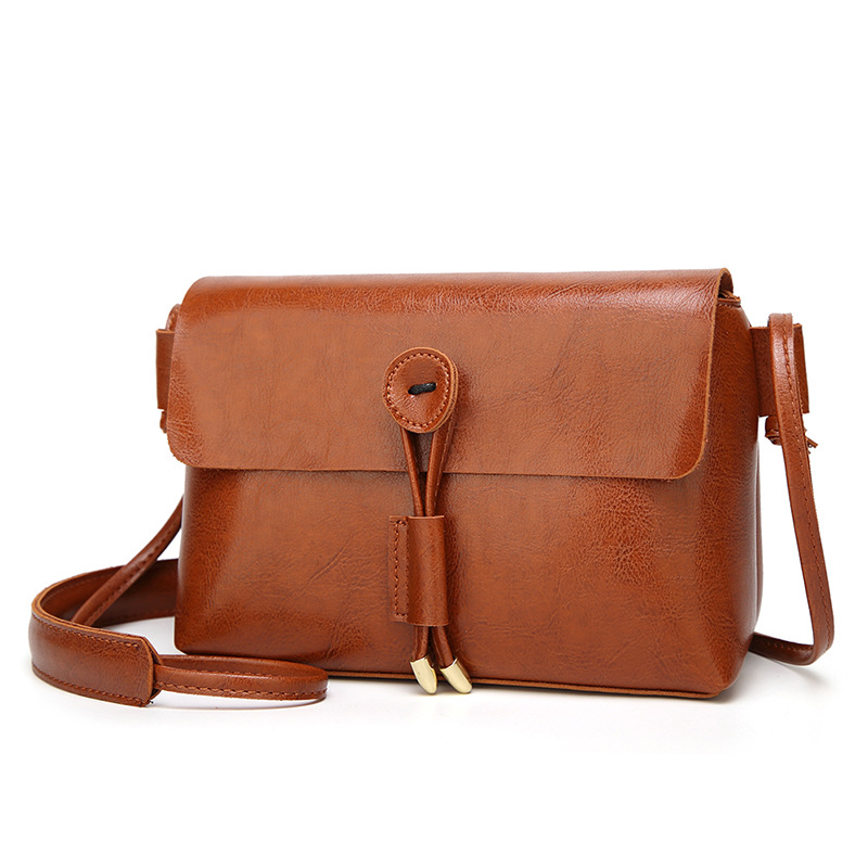 Women Vintage Small Square Messenger Bags Casual Shoulder Crossbody Bags Soft PU Leather Handbags Clutches Ladies Party Bag in Shoulder Bags from Luggage Bags