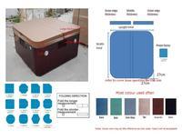 Горячая ванна спа Чехол Кожа 2090x1680 мм можно настроить любой другой размер