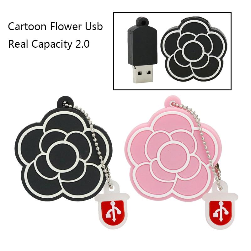 Romantic Rose Flower USB Flash Drives 4GB 64GB 32GB 16GB 8GB flash drives font b External