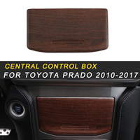 Para Toyota Prado 2018 Car Styling Organizar Caixa De Armazenamento Quadro Tampa Do Painel de Controle Central Adesivo Acessórios Interiores|adesivos automotivos internos| |  -