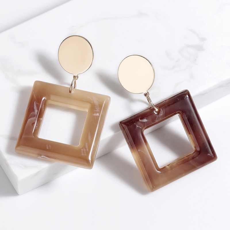 все цены на 2019 Minimalistic and Elegant Square Earrings Brincos Drop Earring Eardrop for Women Trendy Design Jewelry Wholesale oorbellen