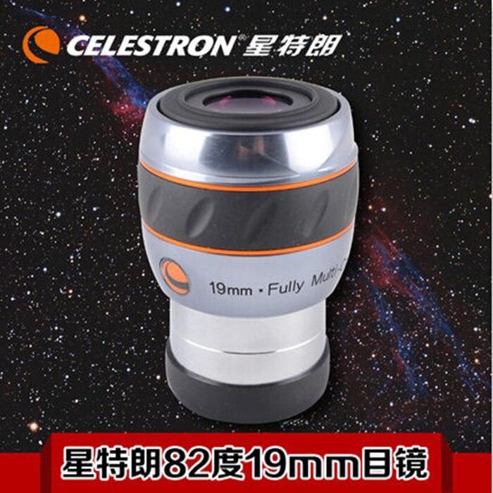 Celestron luminos 19 мм окуляра 82 широкоугольный 19 мм окуляр большой поле астрономический телескоп аксессуары 93433 2 дюймов
